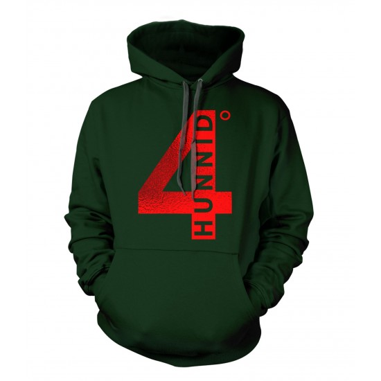 4 Hunnid Degreez Special Edition Red Foil Hoodie