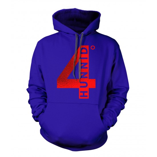 4 Hunnid Red Foil Youth Hoodie