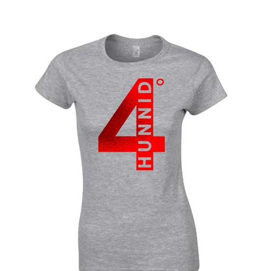 4 Hunnid Degreez Special Edition Red Foil Juniors T Shirt