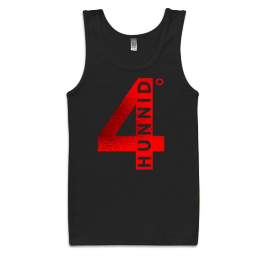 4 Hunnid Degreez Special Edition Red Foil Tank Top