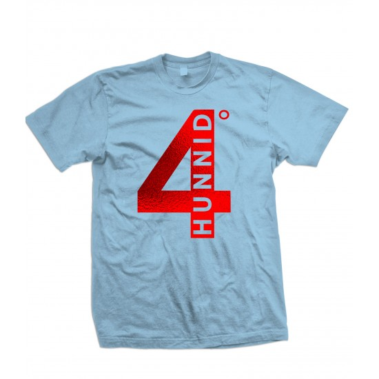 4 Hunnid Degreez Special Edition Red Foil T Shirt