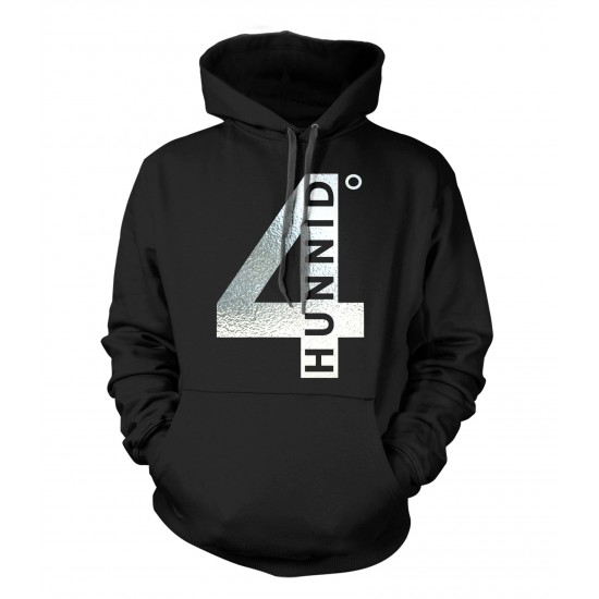 4 Hunnid Degreez Special Edition Silver Foil Hoodie