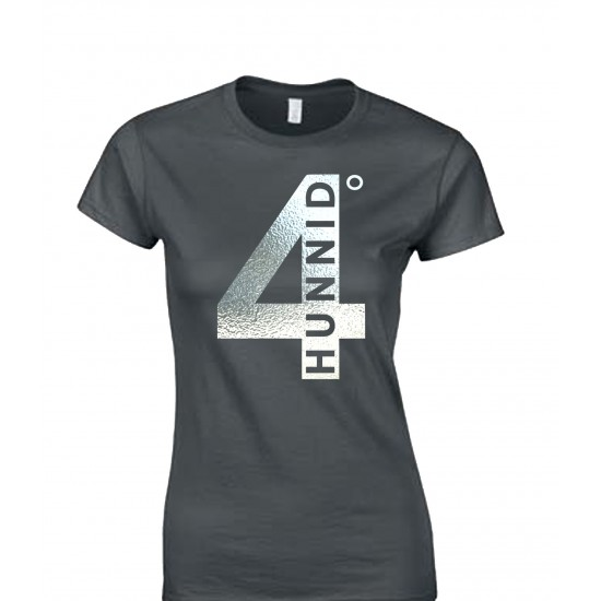 4 Hunnid Degreez Special Edition Silver Foil Juniors T Shirt