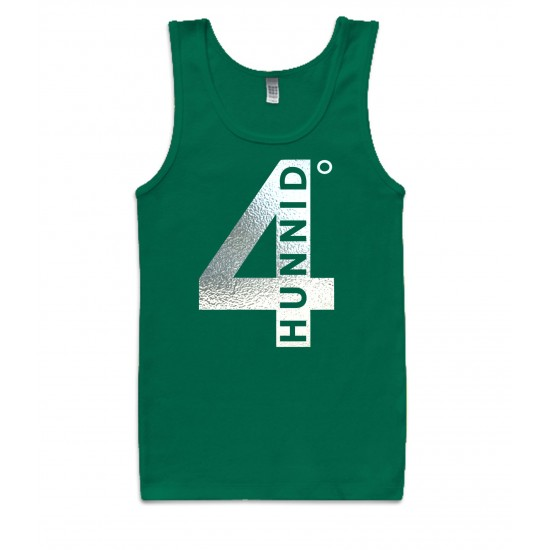4 Hunnid Degreez Special Edition Silver Foil Tank Top
