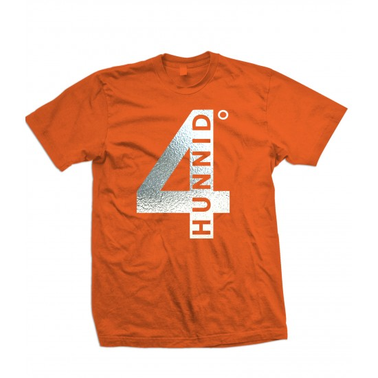 4 Hunnid Degreez Special Edition Silver Foil T Shirt