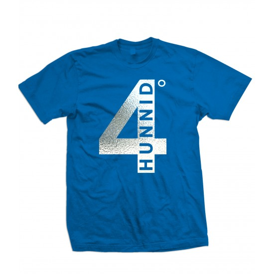 4 Hunnid Silver Foil Youth T Shirt