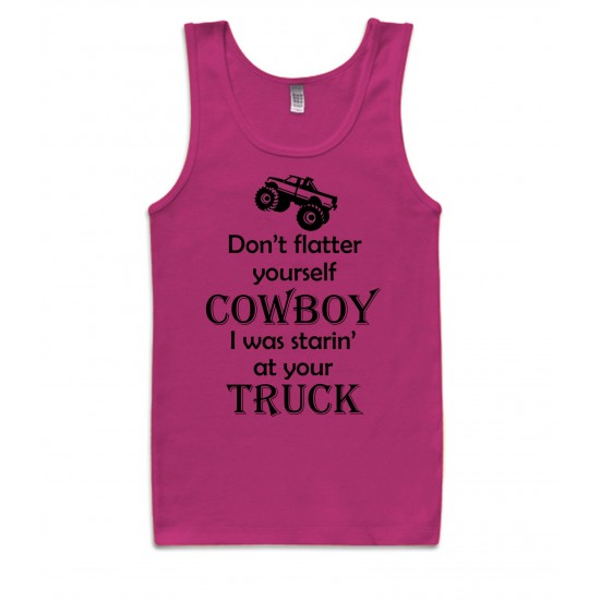 Don't Flatter Yourself Cowboy Tank Top