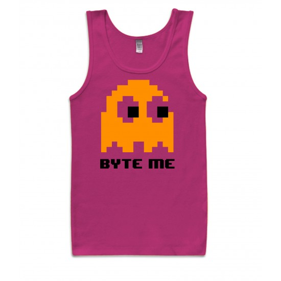 Byte Me Pacman Ghost Tank Top