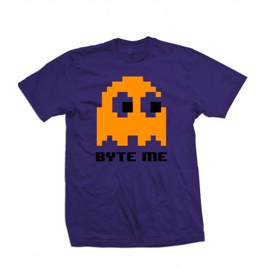 Byte Me Pacman Ghost T Shirt