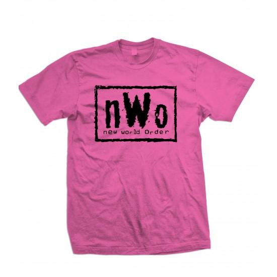 nWo Logo T Shirt New World Order Black Print