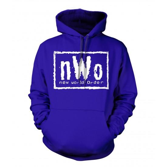 nWo Logo Hoodie White Print