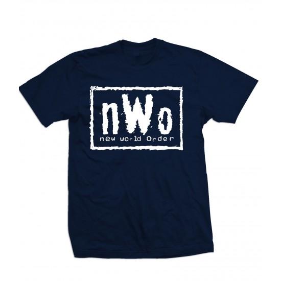 nWo Logo T Shirt White Print