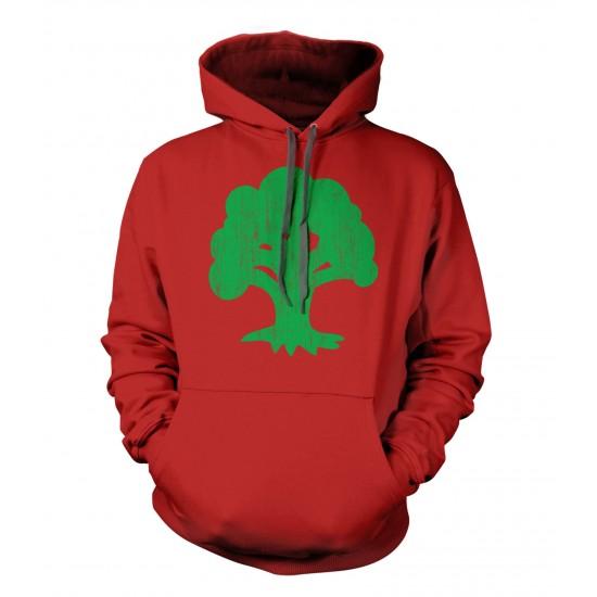 Magic The Gathering Green Mana Tree Hoodie