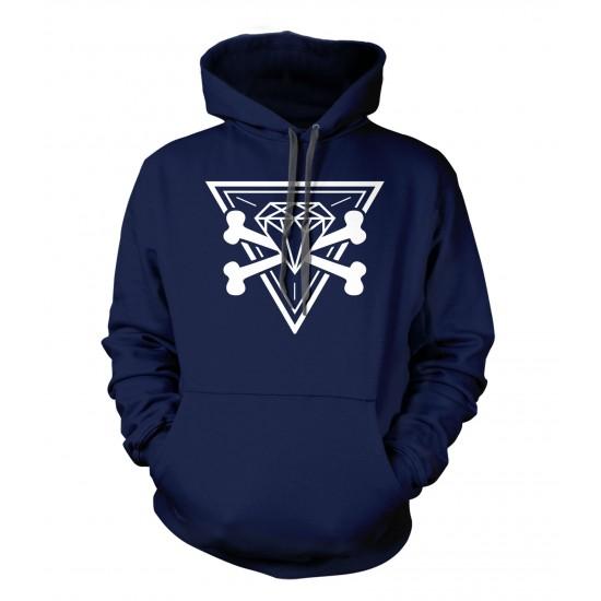 Diamond Cross Bones Hoodie