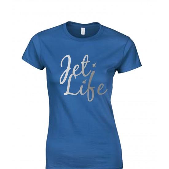 Jet Life Silver Foil Juniors T Shirt