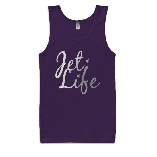 Jet Life Silver Foil Womens Tank Top