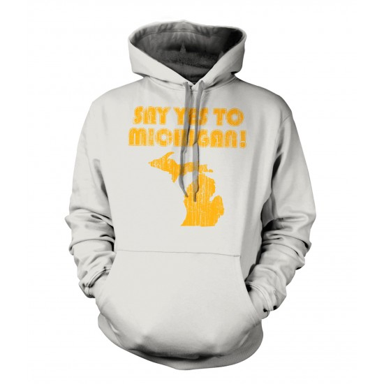 Say Yes To Michigan Retro Hoodie