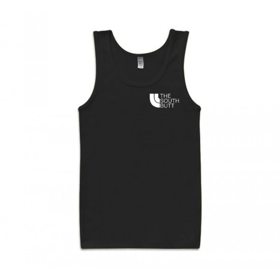 The South Butt Left Chest Print Tank Top
