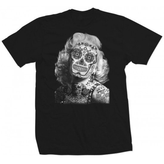 Marilyn Monroe Tattooed Skull Shirt