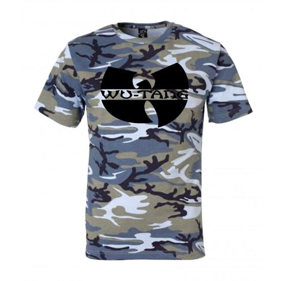 Wu Tang Classic Logo Camo T Shirt Black Print