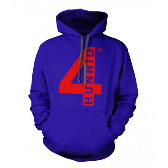 4 Hunnid Red Print Youth Hoodie