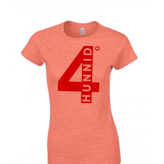4 Hunnid Degreez Juniors T Shirt Red Print