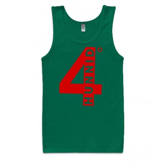4 Hunnid Degreez Tank Top Red Print