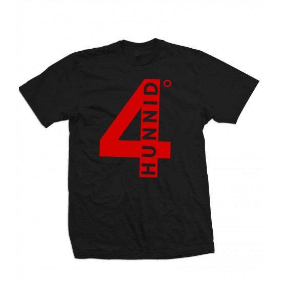 4 Hunnid Red Print Youth T Shirt