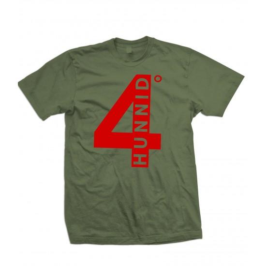4 Hunnid Degreez T Shirt Red Print