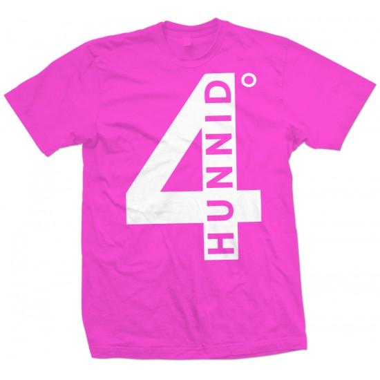 4 Hunnid Degreez T Shirt White Print