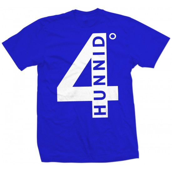 4 Hunnid White Print Youth T Shirt