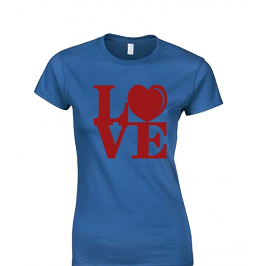 LOVE Block Text Juniors T Shirt