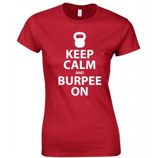 Keep Calm and Burpee On Juniors White Print