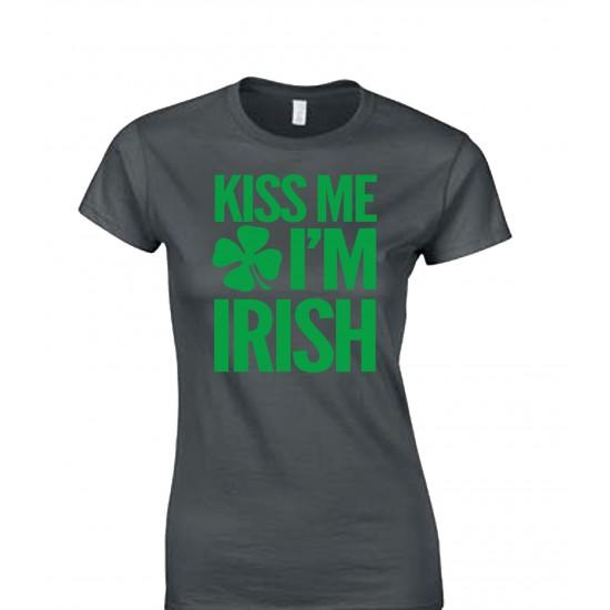 Kiss Me I'm Irish Juniors T Shirt