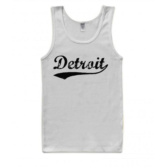Detroit Retro Black Print Womens Tank Top
