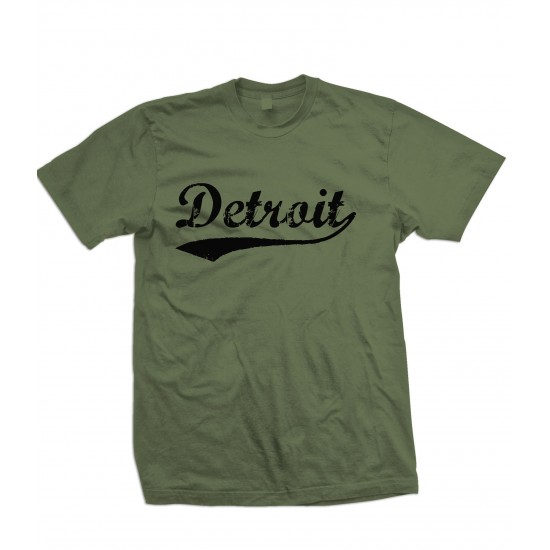 Detroit Retro Black Print Youth T Shirt