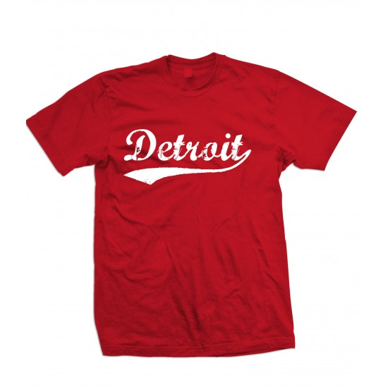 Detroit Retro White Print Youth T Shirt