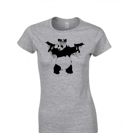 Banksy Panda With UZI's Juniors T Shirt
