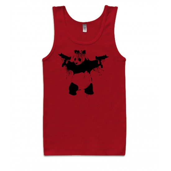 Banksy Panda With UZI's Womens Tank Top